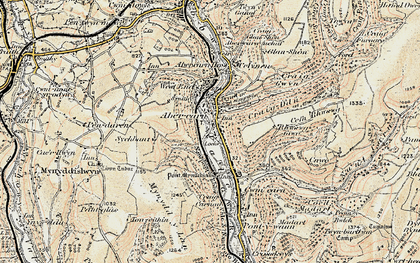 Old map of Abercarn in 1899-1900