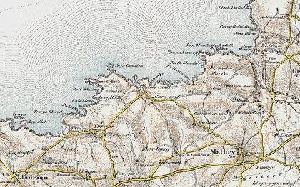Old map of Abercastle in 0-1912