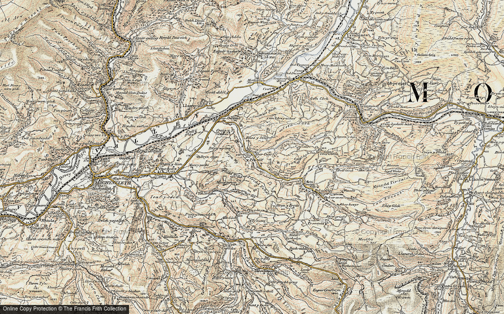 Old Map of Abercegir, 1902-1903 in 1902-1903