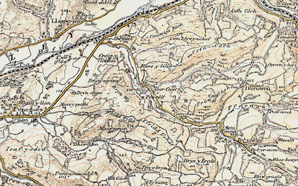 Old map of Abercegir in 1902-1903