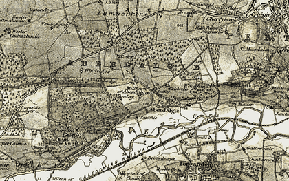 Old map of Woodhead in 1906-1908