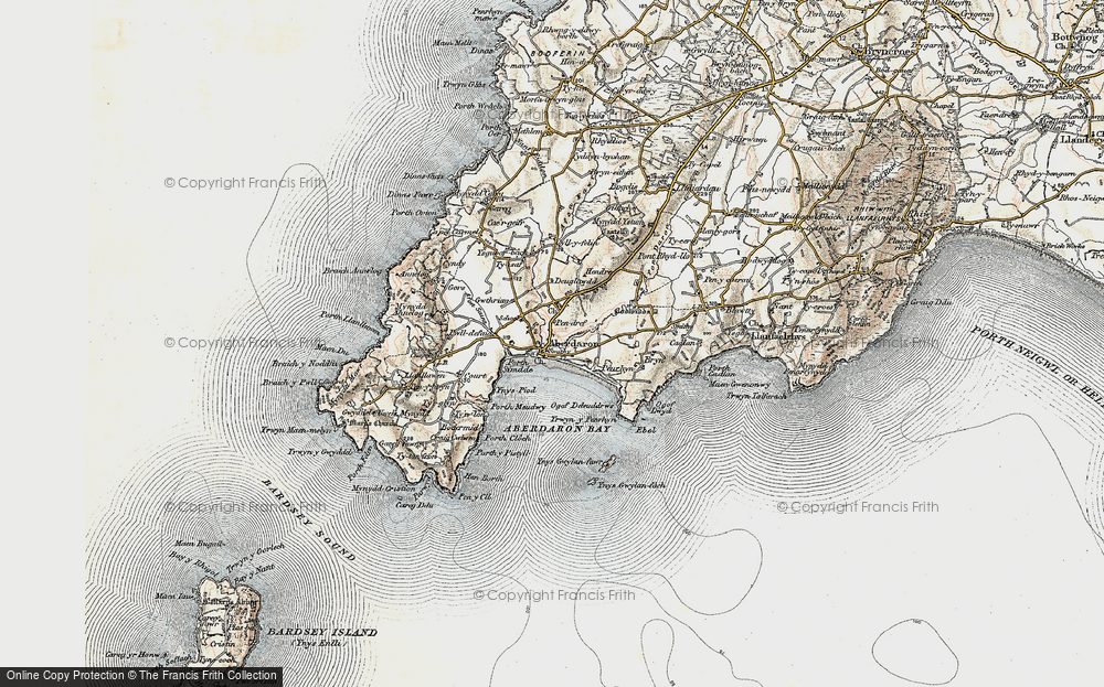 Old Map of Historic Map covering Ynys Gwylan-bâch in 1903