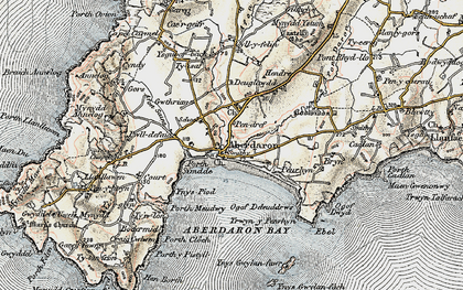 Old map of Ynys Gwylan-fawr in 1903