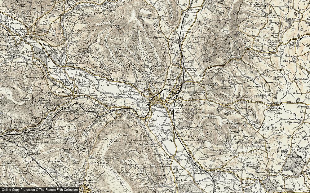 Old Map of Abergavenny/Y Fenni, 1899-1900 in 1899-1900