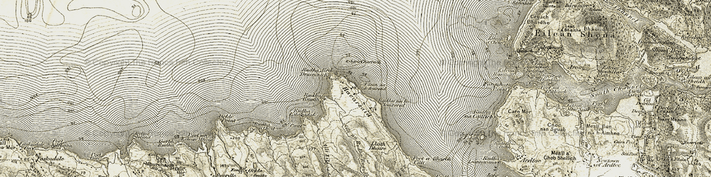 Old map of Acarsaid in 1906-1908