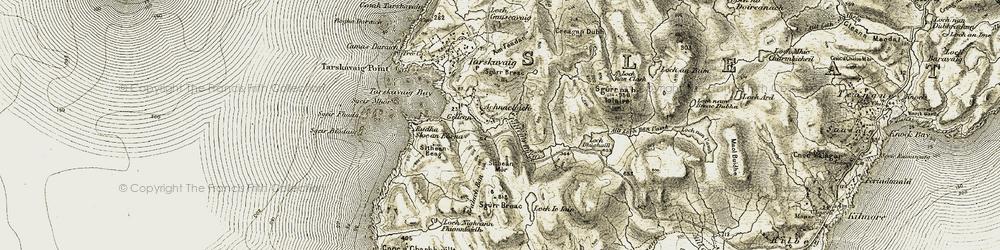 Old map of Achnacloich/Ach na Cloiche in 1906-1908
