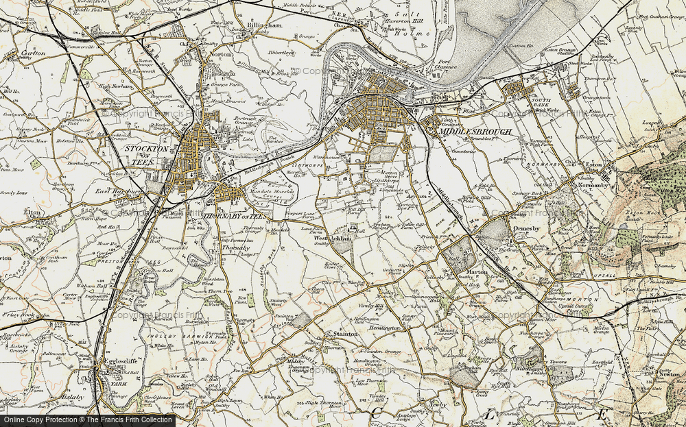Old Map of Acklam, 1903-1904 in 1903-1904