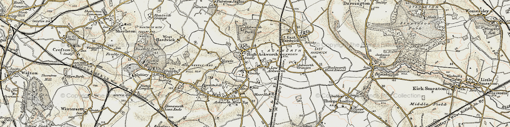 Old map of Ackworth School in 1903
