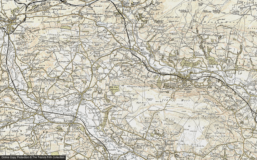 Old Map of Addingham Moorside, 1903-1904 in 1903-1904