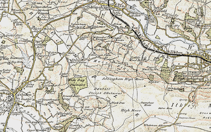 Old map of Addingham Moorside in 1903-1904