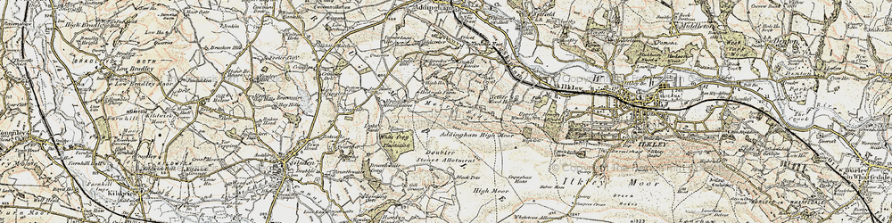Old map of Whetstone Allotment in 1903-1904