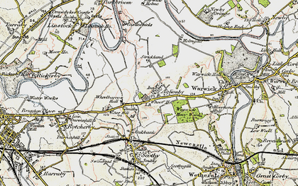 Old map of Wheelbarrow Hall in 1901-1904