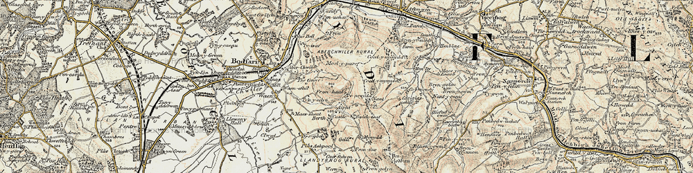 Old map of Aifft in 1902-1903