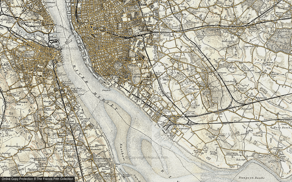 Old Map of Aigburth, 1902-1903 in 1902-1903