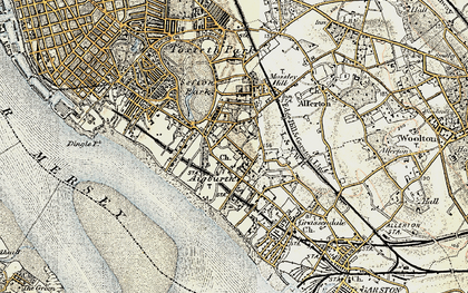 Old map of Aigburth in 1902-1903