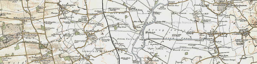 Old map of Wilfholme Landing in 1903-1908
