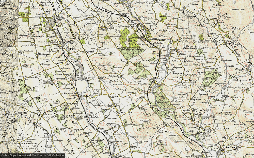 Old Map of Aiketgate, 1901-1904 in 1901-1904