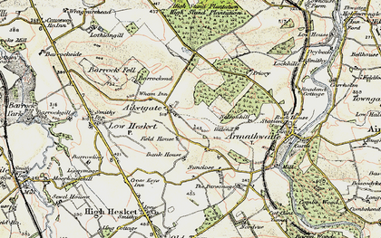 Old map of Aiketgate in 1901-1904