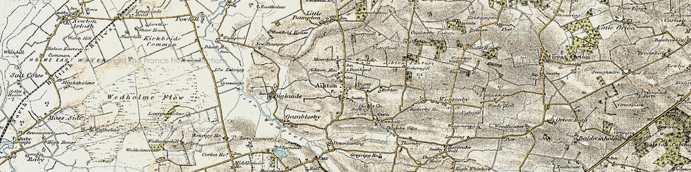 Old map of Aikton in 1901-1904