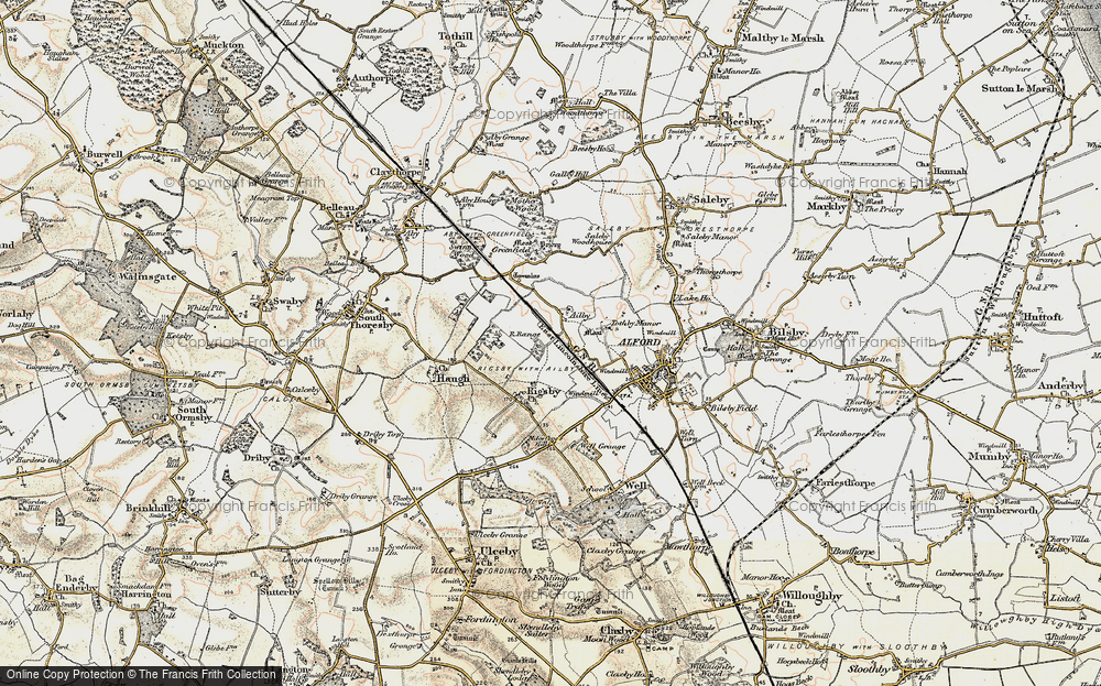 Old Map of Ailby, 1902-1903 in 1902-1903