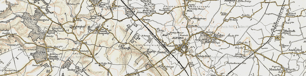 Old map of Ailby in 1902-1903