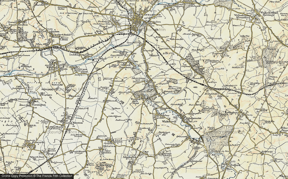 Old Map of Ailstone, 1899-1901 in 1899-1901