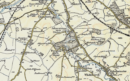 Old map of Ailstone in 1899-1901