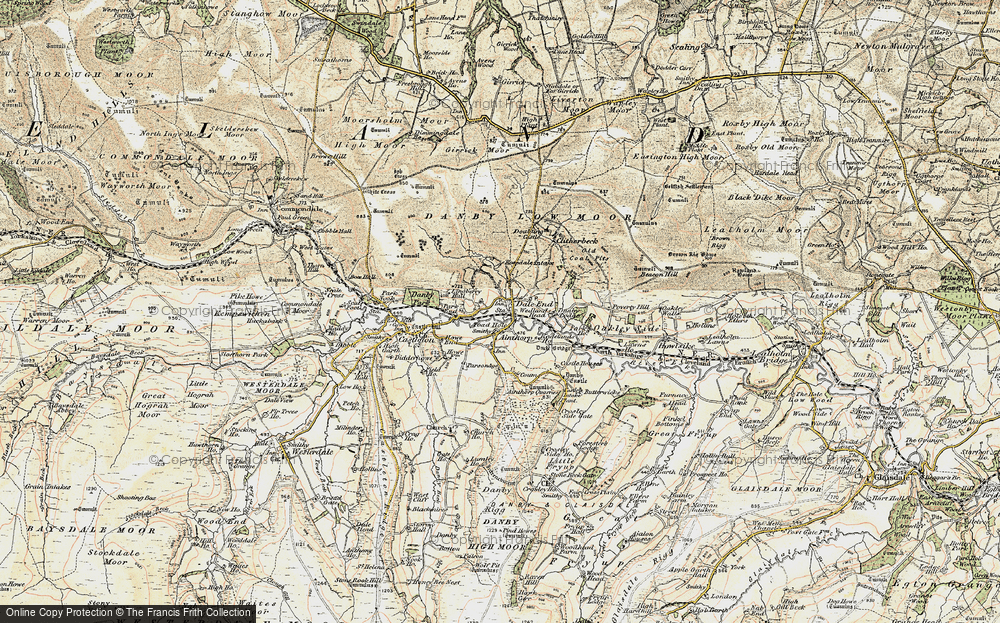 Old Map of Ainthorpe, 1904 in 1904