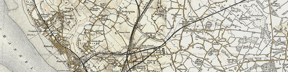 Old map of Aintree in 1902-1903