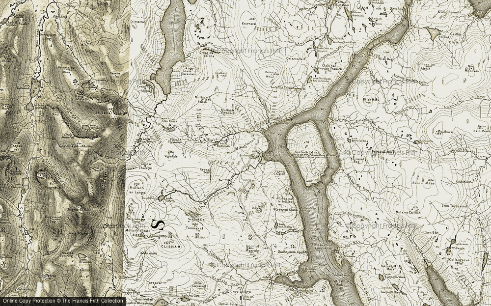 Old Map of Historic Map covering Abhainn a' Mhuil in 1911
