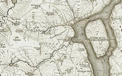 Old map of Bàgh Bhìogadail in 1911