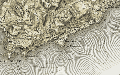 Old map of Aird/An Àird in 1906-1908