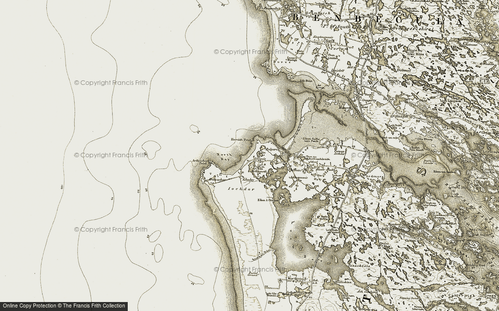 Old Map of Àird Choinnich, 1911 in 1911