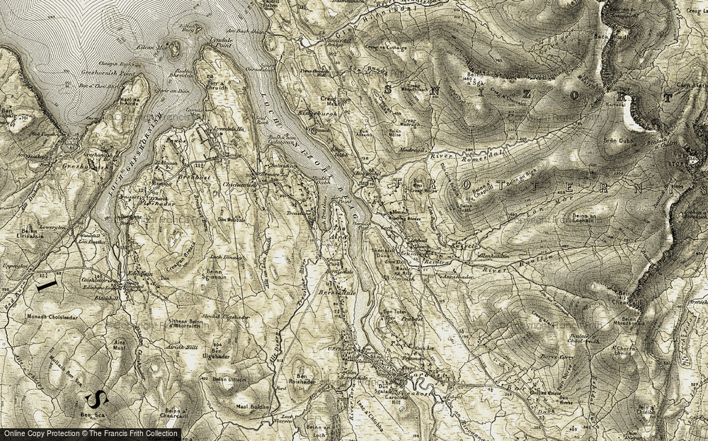 Old Map of Aird, The, 1909 in 1909