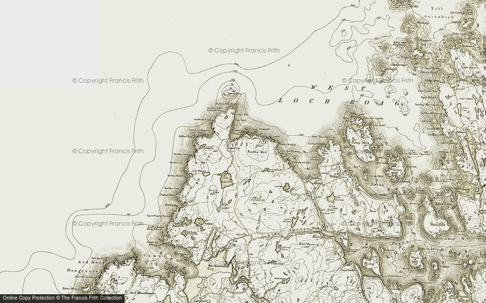 Old Map of Àird Uig, 1911 in 1911