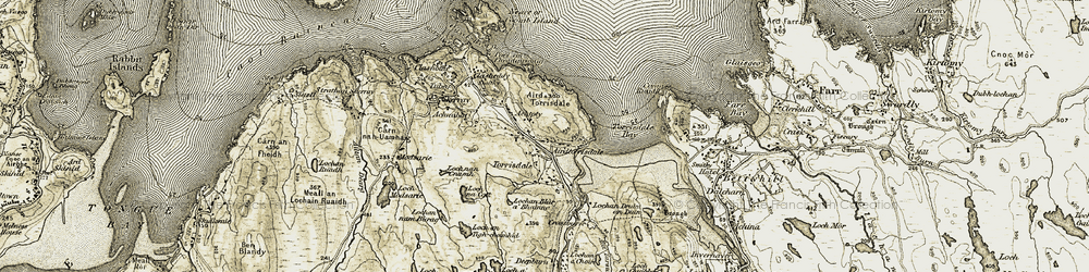 Old map of Airdtorrisdale in 1910-1912
