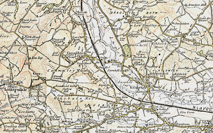Old map of Aire View in 1903-1904