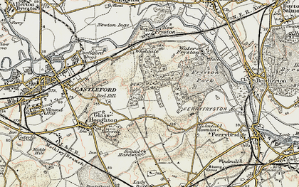 Old map of Airedale in 1903