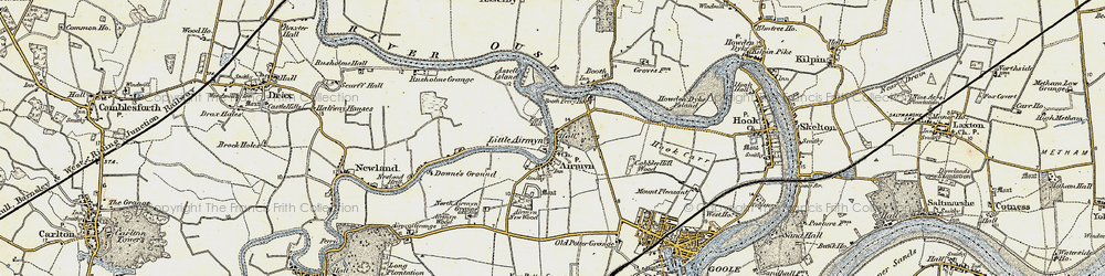 Old map of Airmyn in 1903