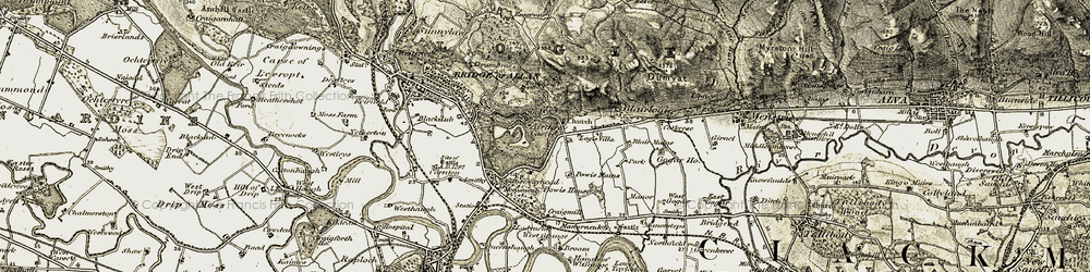 Old map of Airthrey Castle in 1904-1907