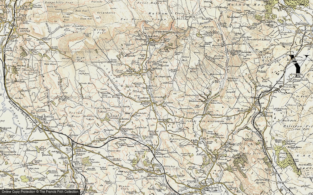 Old Map of Airton, 1903-1904 in 1903-1904