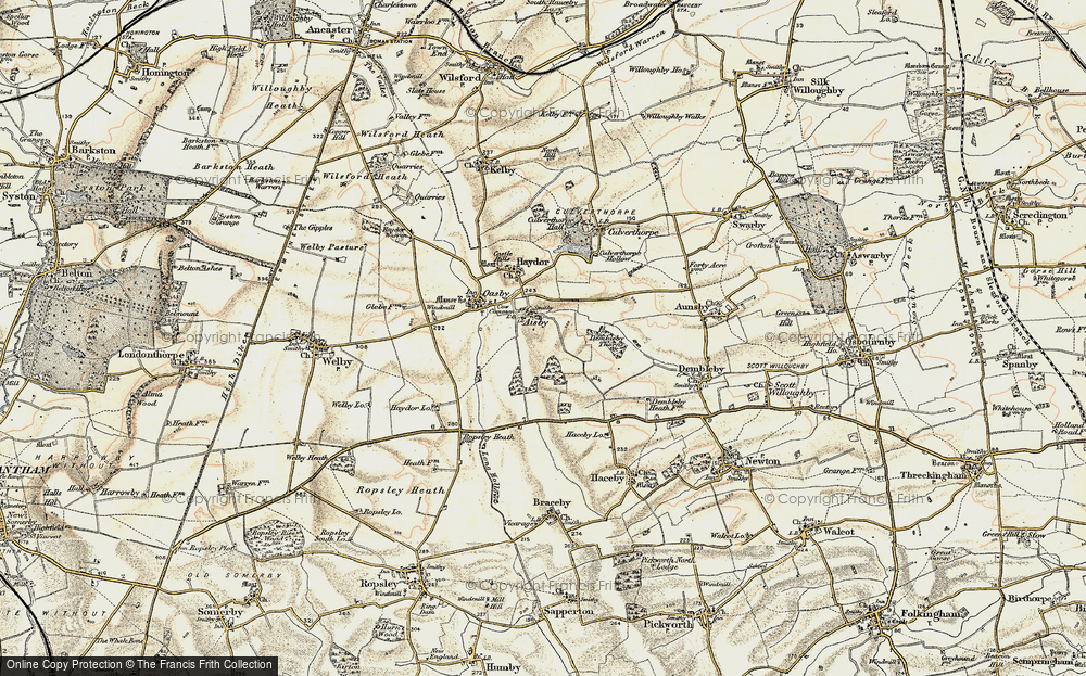 Old Map of Aisby, 1902-1903 in 1902-1903