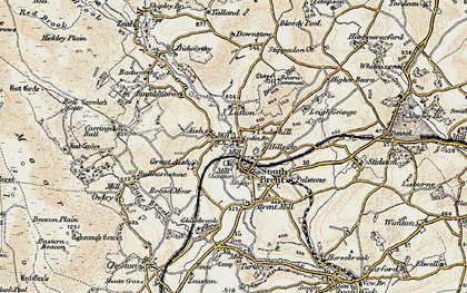 Old map of Aish in 1899