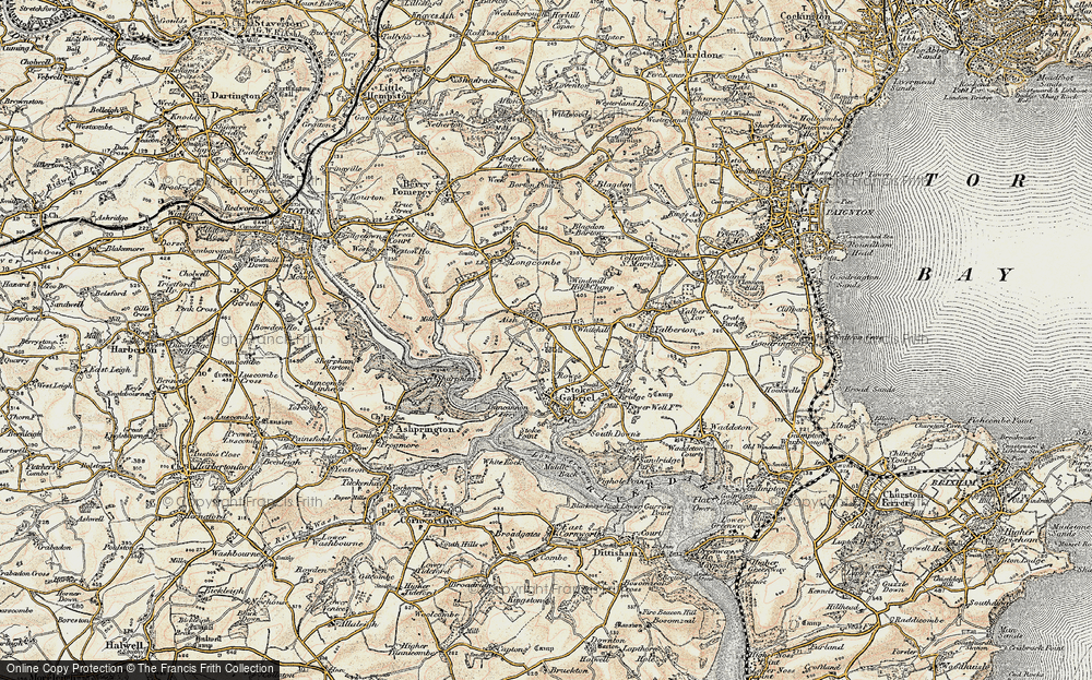 Old Map of Aish, 1899 in 1899