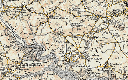 Old map of Windmill Hill Clump in 1899