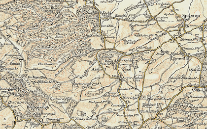 Old map of Aisholt Common in 1898-1900