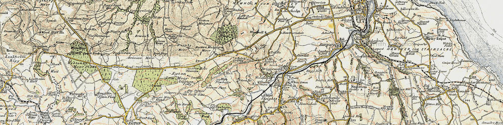 Old map of Aislaby Moor in 1903-1904