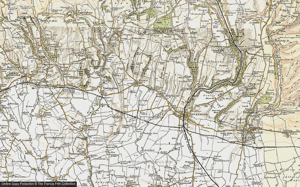Old Map of Aislaby, 1903-1904 in 1903-1904