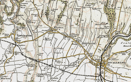 Old map of Aislaby Carr in 1903-1904
