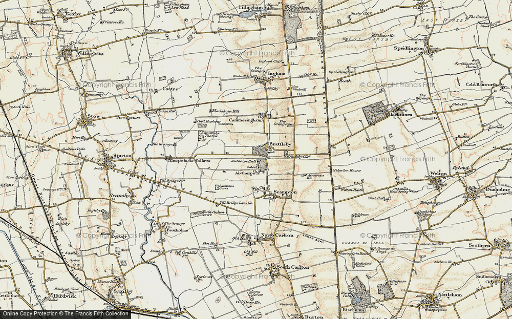 Old Map of Aisthorpe, 1902-1903 in 1902-1903